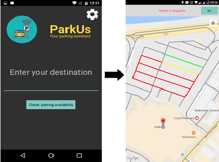 ParkUs app screenshot